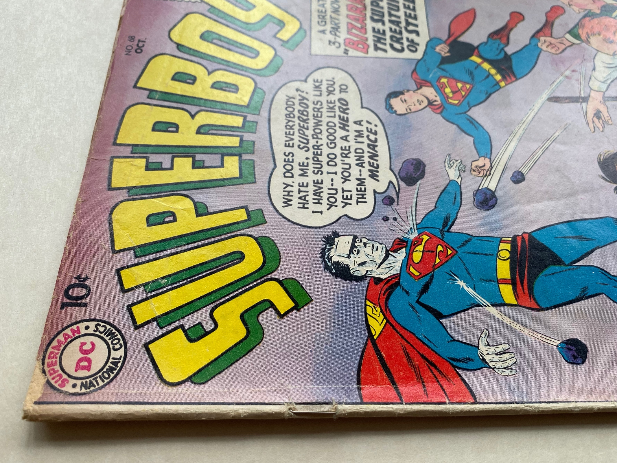 Lot 2401 - SUPERBOY #68 - (1958 - DC - Cents Copy - GD/VG) - Origin and first appearance of BIZARRO - Curt Swan