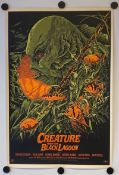 THE CREATURE FROM THE BLACK LAGOON (2012) - Limited edition Silk Screen 'Mondo' lithograph