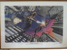 SPIDERMAN vs GREEN GOBLIN (1995) - Limited Edition Marvel Lithograph - SIGNED BY JOHN ROMITA &