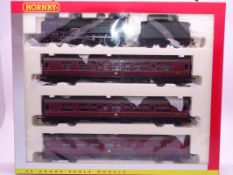 OO Gauge -A Hornby R2347M 'The Manxman' train pack including steam loco and 3 coaches - E, unused in