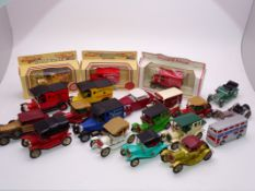 A group of assorted Matchbox Models of Yesteryear, unboxed, together with a few Lledo Days Gone