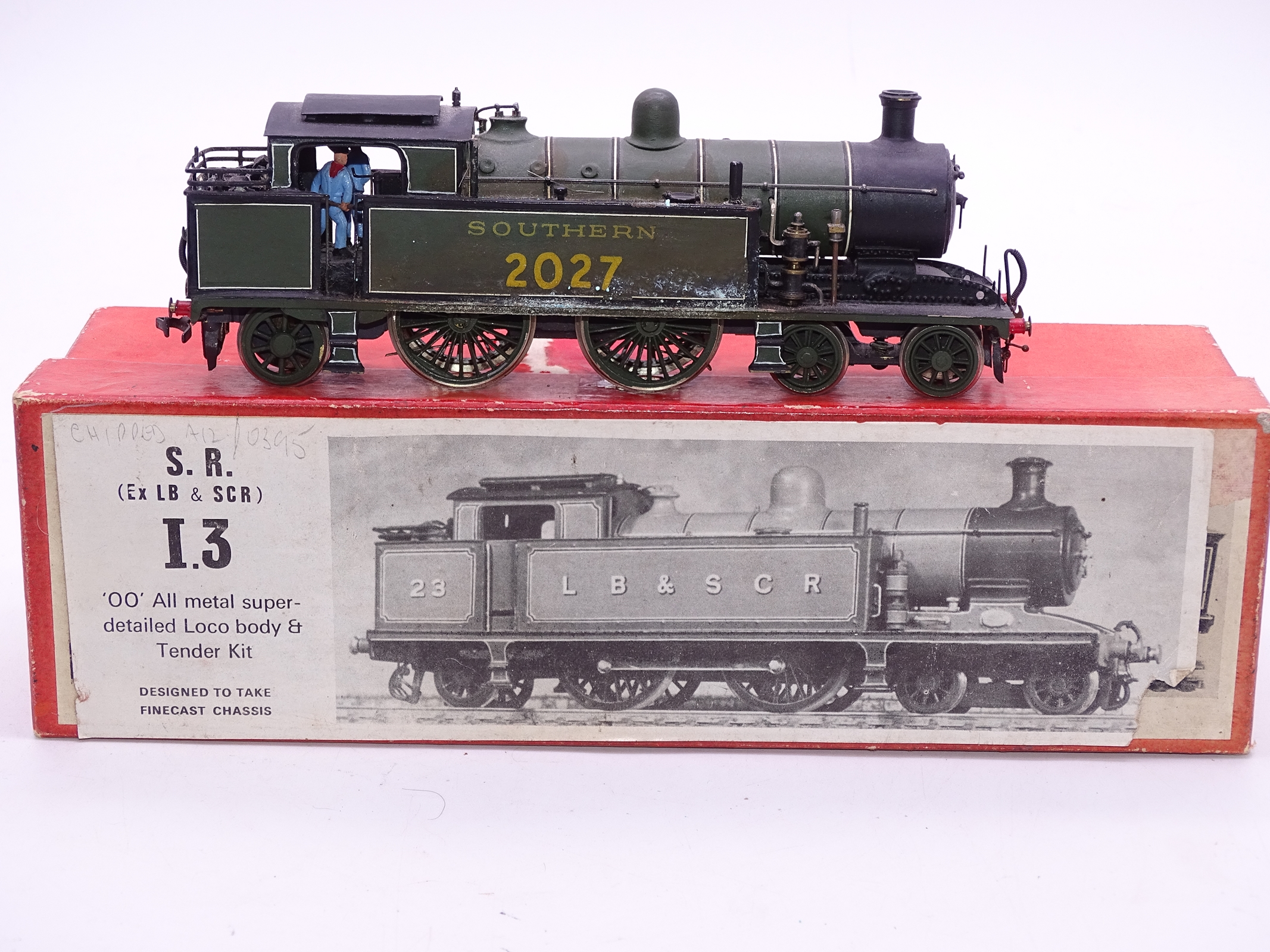 Lot 54 - OO Gauge -A Wills Finecast kit built I3 Class steam tank loco in Southern Railway livery -