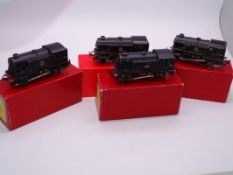 OO Gauge -A group of playworn Trix Twin 0-4-0 steam tank locomotives in various liveries supplied in