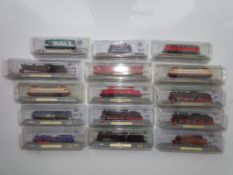 N Gauge - A group of N Gauge static Del Prado locomotive models as lotted - E, sealed in original