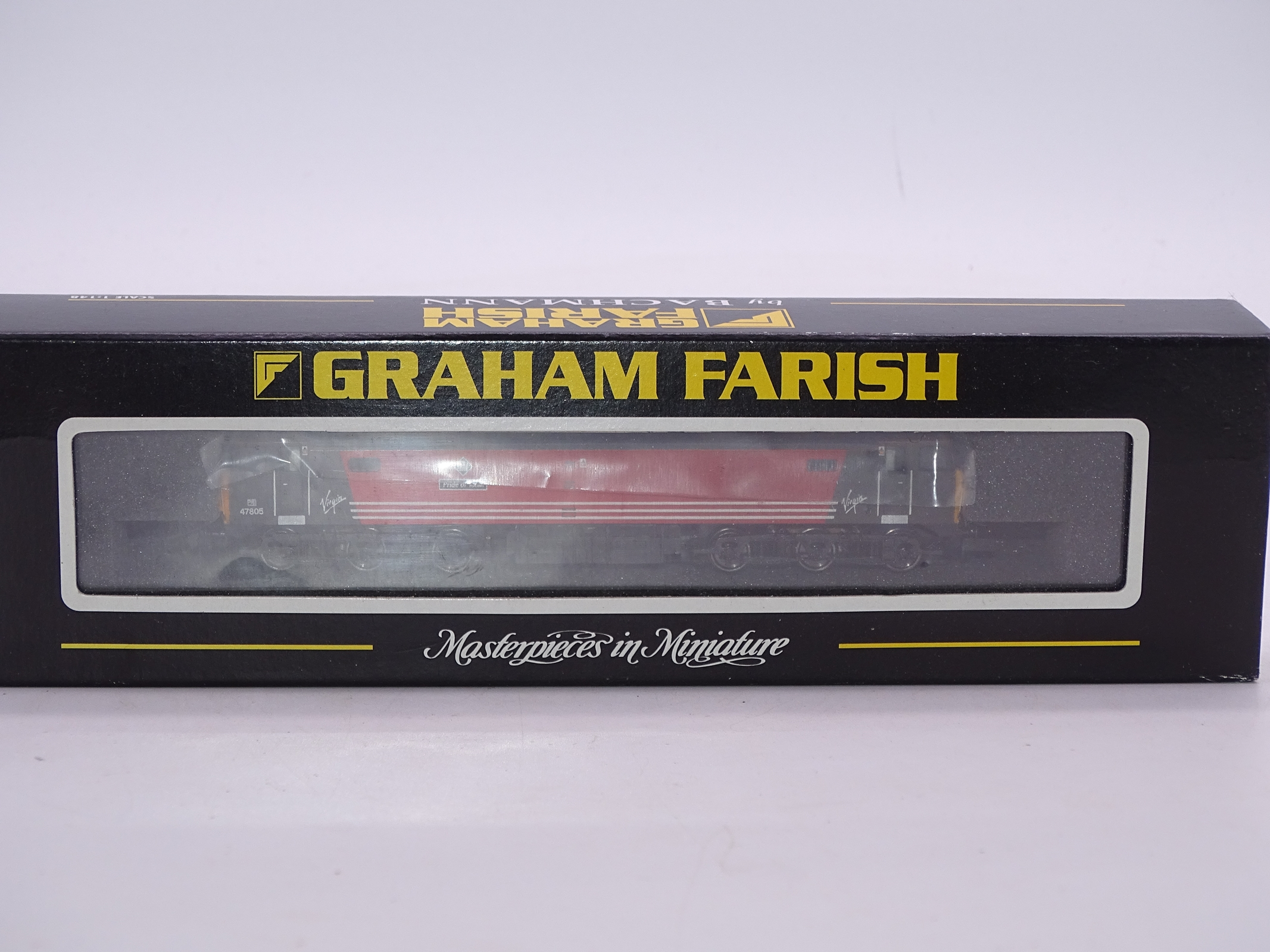 Lot 17 - N Gauge - A Graham Farish by Bachmann 371-225K Class 47 'Pride of Toton' Diesel locomotive in Virgin