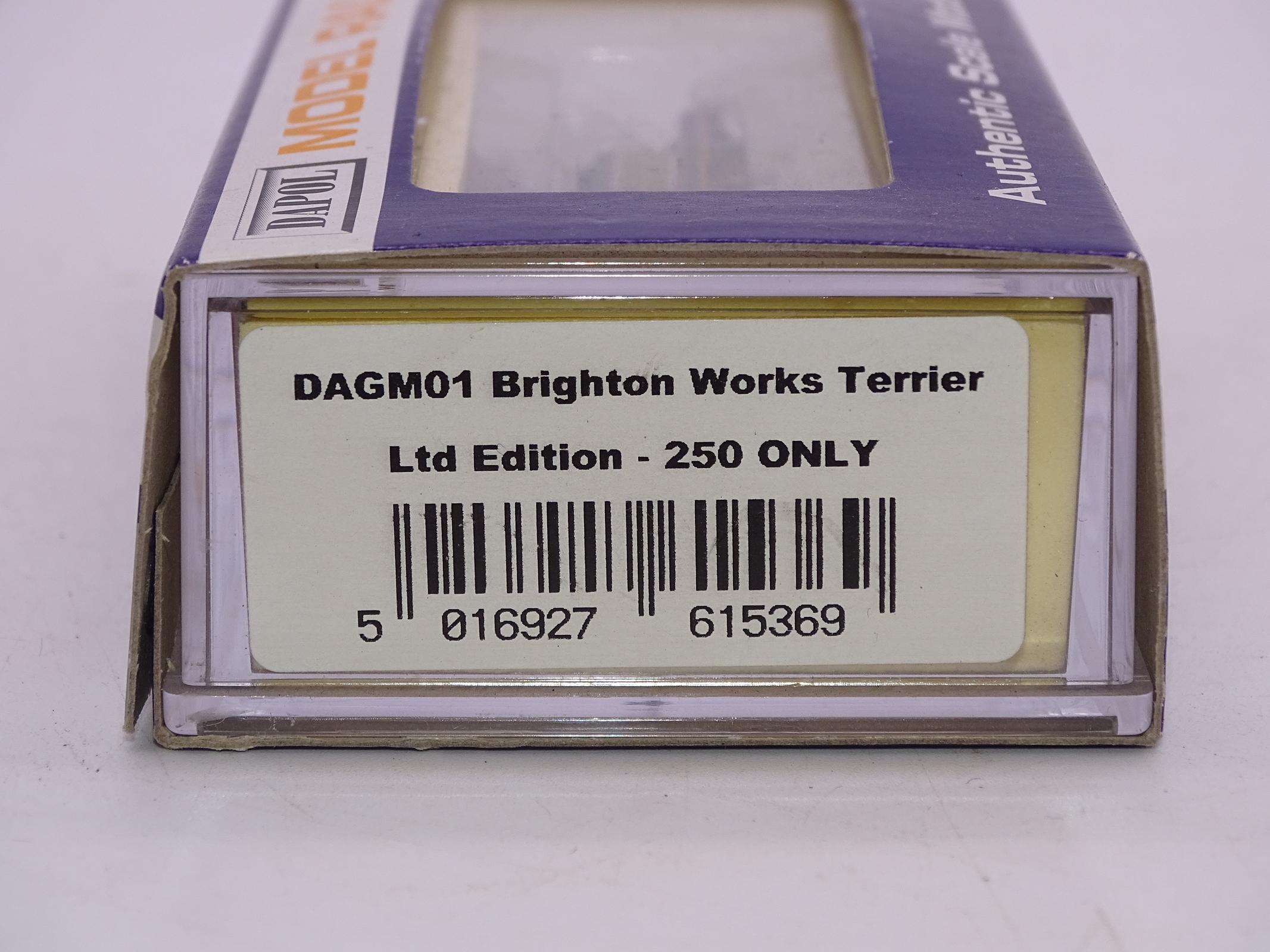 Lot 18 - N Gauge - A Dapol DAGM01 Terrier Steam locomotive in LBSCR Orange / brown livery 'Brighton Works'
