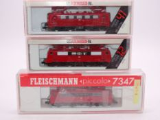 N Gauge - A group of 3 German Outline electric locomotives by Arnold and Fleischmann as lotted G-