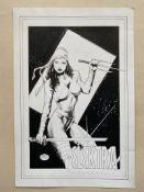 ELEKTRA (2005) ILLUSTRATION BY MICHAEL BAIR - SIGNED BY MICHAEL BAIR - ORIGINAL ARTWORK - Elektra