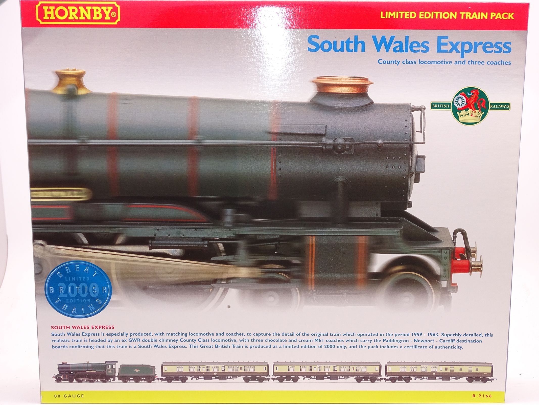 Lot 58 - OO Gauge -A Hornby R2166 'South Wales Express' train pack including steam loco and 3 coaches - E,