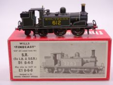 OO Gauge -A Wills Finecast kit built Class D1 steam tank loco in Southern Railway livery -