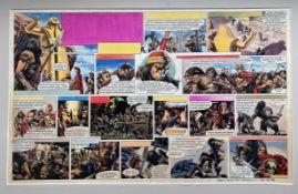 HEROS THE SPARTAN (1962) - ORIGINAL SIGNED FRANK BELLAMY ARTWORK from EAGLE Comic - FRANK BELLAMY (