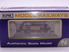 N Gauge - A Dapol DAGM01 Terrier Steam locomotive in LBSCR Orange / brown livery 'Brighton Works'