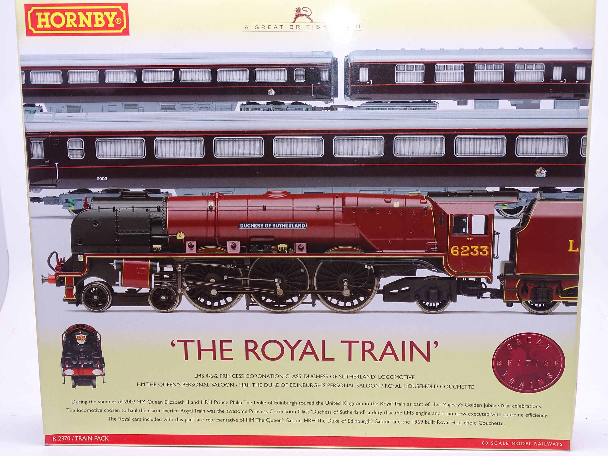 Lot 60 - OO Gauge -A Hornby R370 'The Royal Train' train pack including steam loco and 3 coaches - E,