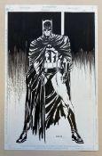 BATMAN: MOVIE BOOK ADAPTATION (Undated) SIGNED BY MICHAEL BAIR - ORIGINAL ARTWORK - MICHAEL BAIR (