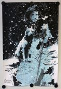 GAME OF THRONES (JON SNOW) (2013) - Limited edition Silk Screen 'Mondo' lithograph produced in