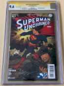SUPERMAN UNCHAINED #1 (2013) - Signature Series SIGNED BY DAVE JOHNSON (DC 'New52' / CGC Graded 9.6)