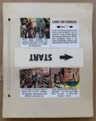 LOUIS THE FEARLESS (1950's) - (9 in Lot) 33 x 40.5 cm)Original story boards from GIRL Comic for