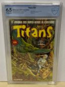 TITANS #56 (1983 - MARVEL - French Edition) Graded CBCS 6.5 (French Franc Copy) - Frank Springer,