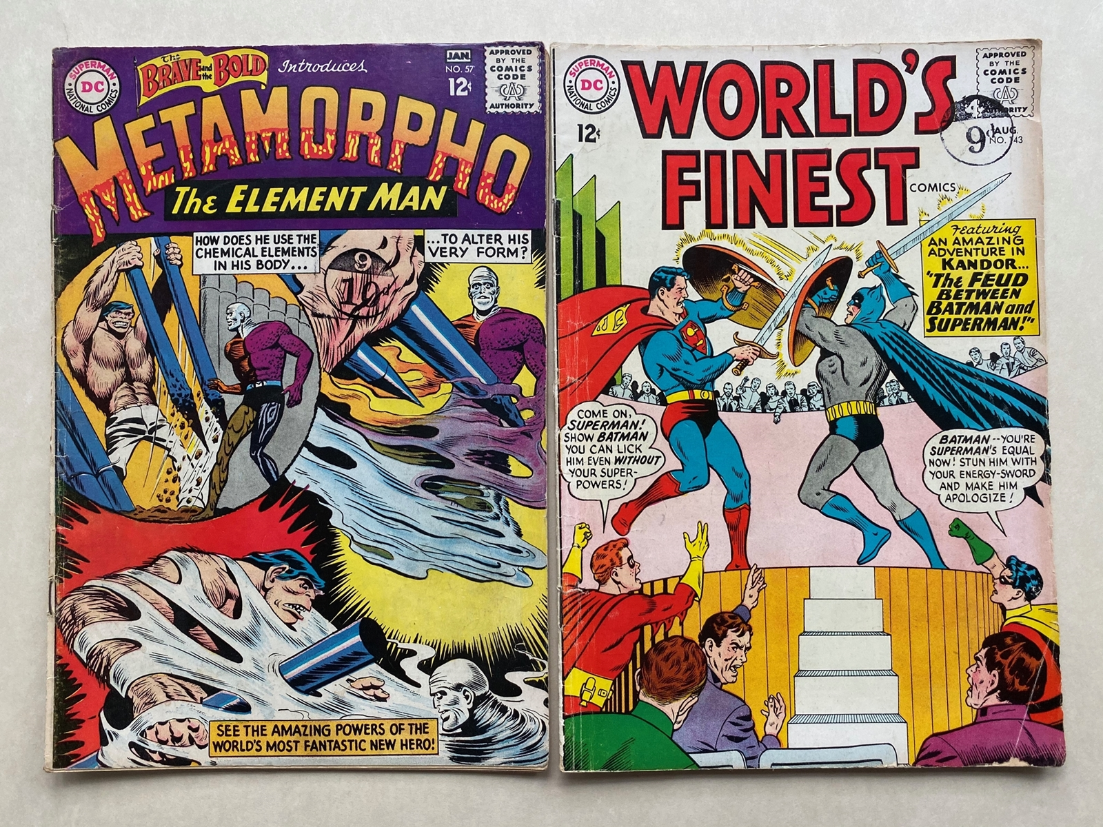 Lot 2157 - WORLD'S FINEST, BRAVE & THE BOLD (2 in Lot) - (1964 - DC - Cents Copy/Pence Stamp - GD/VG - Run