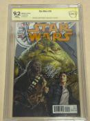 STAR WARS #35 (2017 - MARVEL) Graded CBCS 9.2 (Cents Copy) SIGNED BY JOHN COPPINGER - Salvador