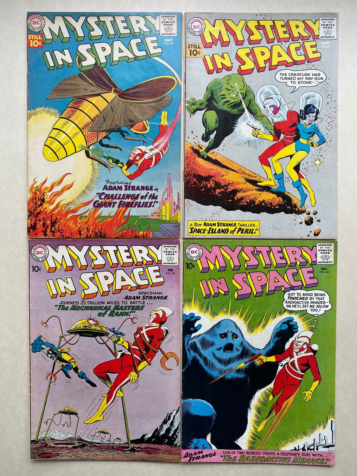 Lot 2079 - MYSTERY IN SPACE #64, 65, 66, 67 (4 in Lot) - (1960/61 - DC - Cents Copy - FN/VFN) - First