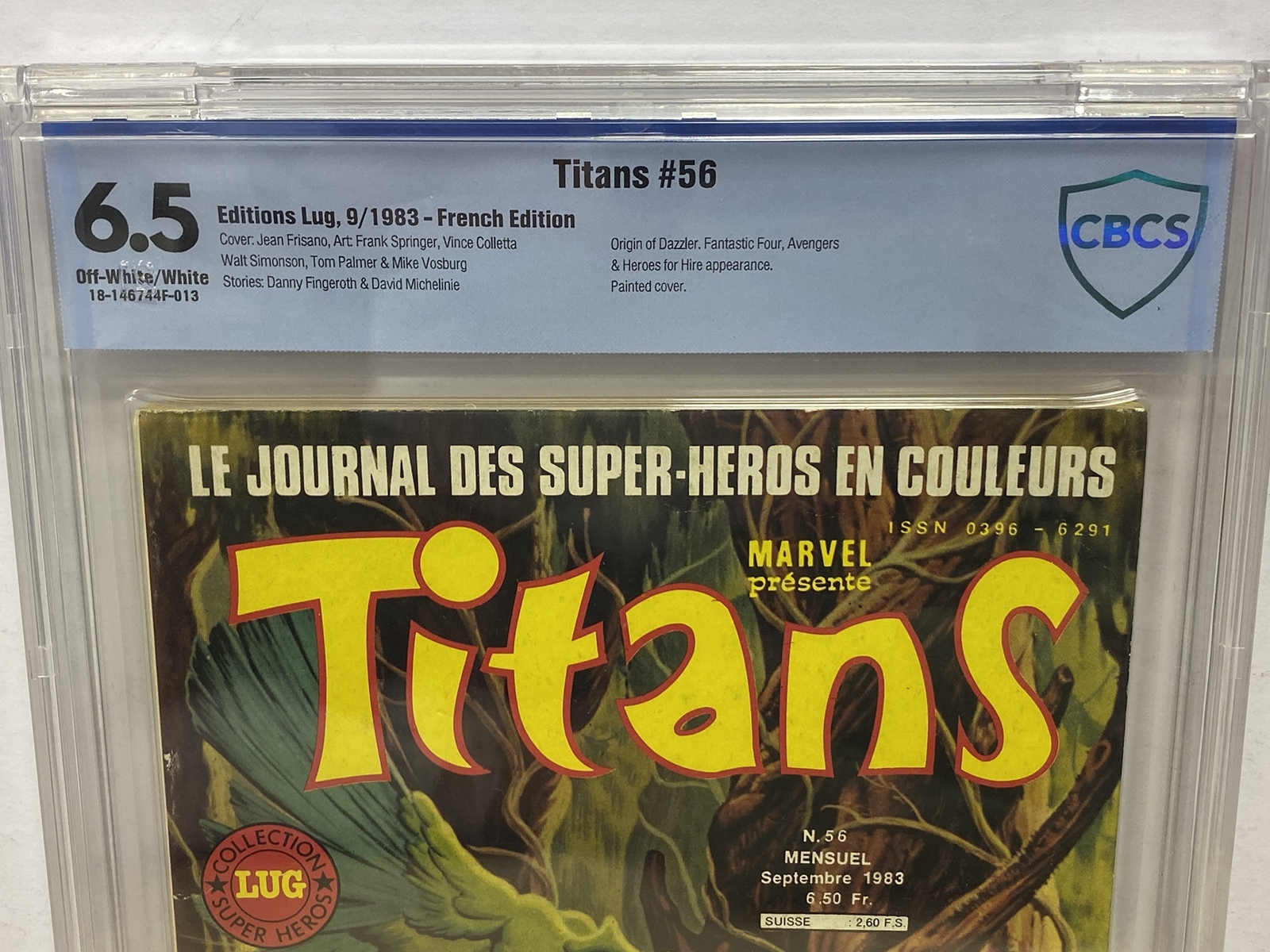 Lot 2008 - TITANS #56 (1983 - MARVEL - French Edition) Graded CBCS 6.5 (French Franc Copy) - Frank Springer,