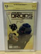 STAR WARS: DROIDS UNPLUGGED #1 (2017 - MARVEL) Graded CBCS 9.8 - (Cents Copy) - SIGNED BY JIMMY