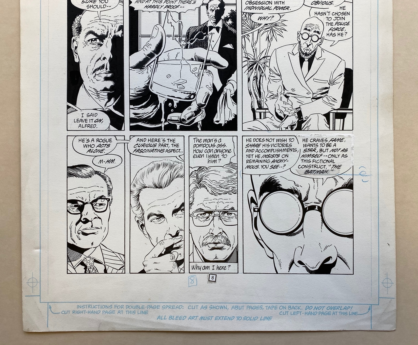 Lot 2198 - BATMAN: LEGEND OF THE DARK KNIGHT #11 (1990) - ORIGINAL ARTWORK - PAUL GULACY (Artist) - Page 8 (
