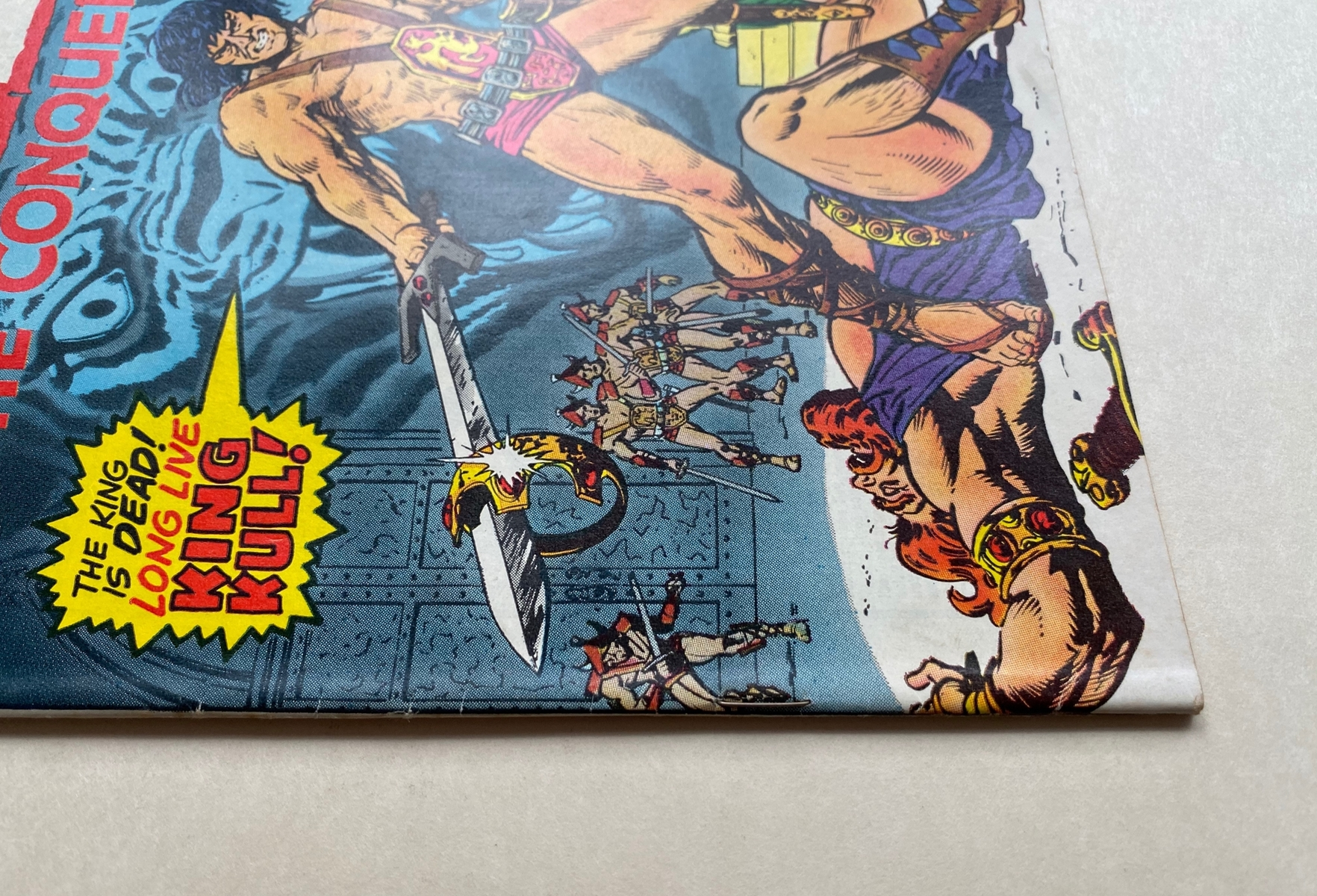 Lot 2014 - KULL THE CONQUEROR #1 - (1971 - MARVEL - Cents Copy/Pence Stamp - VFN) - Origin and second