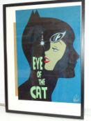 "CATWOMAN ""EYE OF THE CAT"" PRINT (2013) - SIGNED BY DES TAYLOR - Offered framed & glazed with print"