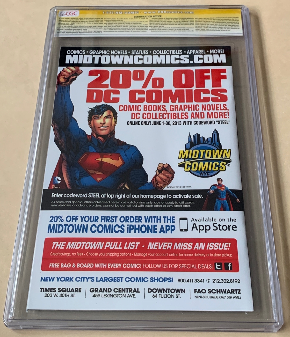Lot 2126 - SUPERMAN UNCHAINED #1 (2013) - Signature Series SIGNED BY DAVE JOHNSON (DC 'New52' / CGC Graded 9.6)