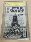 STAR WARS #2 (2015 - MARVEL) Graded CBCS 9.4 (Cents Copy) SIGNED BY JOHN CASSADAY - Retailer