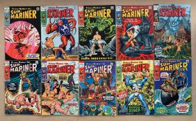 SUB-MARINER #11, 12, 13, 15, 16, 17, 18, 21, 23, 24 (10 in Lot) - (1968-1970 - MARVEL) - FN (Cents