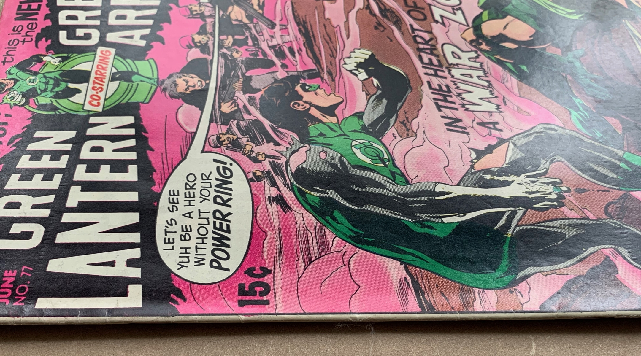 Lot 2117 - GREEN LANTERN #77 (1970 - DC) VFN (Cents Copy/Pence Stamp) - Guardians of the Universe appearance.