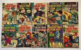 MARVEL COLLECTORS' ITEM CLASSICS LOT #13, 14, 15, 16, 17, 18, 19, 20, 21, 22 (10 in Lot) - (1967/