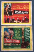 ROAD HOUSE (1948) Lot x 2 - UK/British Half Sheet Movie Posters - Country of Origin First