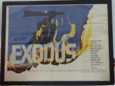 "EXODUS (1960) - SAUL BASS artwork - British UK Quad film poster 30"" x 40"" (76 x 101.5 cm) Originally"