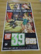 "THE 39 STEPS (1959) - UK Three Sheet (40 x 81"" approx.) - Near Fine"