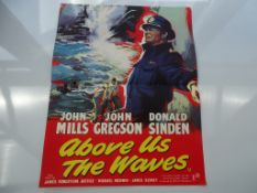 ABOVE US THE WAVES (1955) - RARE - British Press Campaign Brochure complete with insert poster -