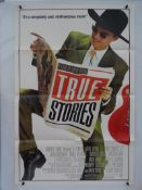 TRUE STORIES (1986) - US One Sheet film poster - Folded