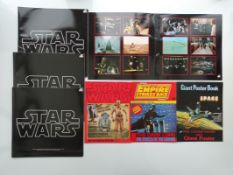 STAR WARS: 4 X STAR WARS SOUNDTRACK VINYL LP ALBUM COVERS (without LPs) together with 2 x STAR