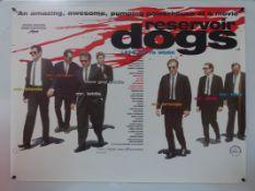 RESERVOIR DOGS (1992) - British UK quad film poster - QUENTIN TARANTINO - Designed by GRAHAM