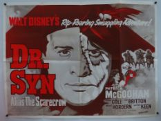 "DR SYN (1963) (alias the Scarecrow) - re release UK Quad (30"" x 40"" - 76 x 101.5 cm) - Folded"