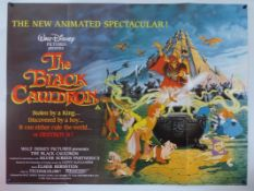 WALT DISNEY: A selection of memorabilia to include posters and campaign books: THE BLACK CAULDRON (
