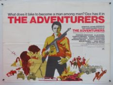 10 x British UK Quad film posters - THE ADVENTURERS (1970), THE FRENCH CONNECTION (1971),