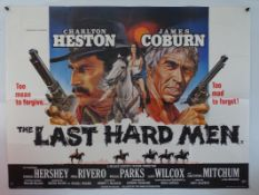 A SELECTION OF BRITISH UK QUAD WESTERN FILM POSTERS: THE LAST HARD MEN (1976), FROM NOON TILL
