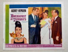BREAKFAST AT TIFFANY'S (1961) - AUDREY HEPBURN - US Lobby Card #5 (NSS #61/262) - Audrey Hepburn &