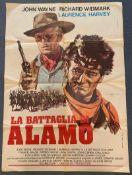 THE ALAMO (1971 Release) - Italian 2 - Fogli Film Poster - JOHN WAYNE - RICHARD WIDMARK - ALLESANDRO