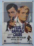YEPKIL SAPKALI CASUS (THE MAN IN THE GREEN HAT) (MAN FROM U.N.C.L.E) - Turkish One Sheet Movie