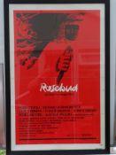 "ROSEBUD (1975) - SAUL BASS artwork for the OTTO PREMINGER film - US One Sheet Movie Poster- 27"" x"